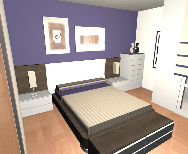 Render Dormitorio Santia - Muebles Gil Martín